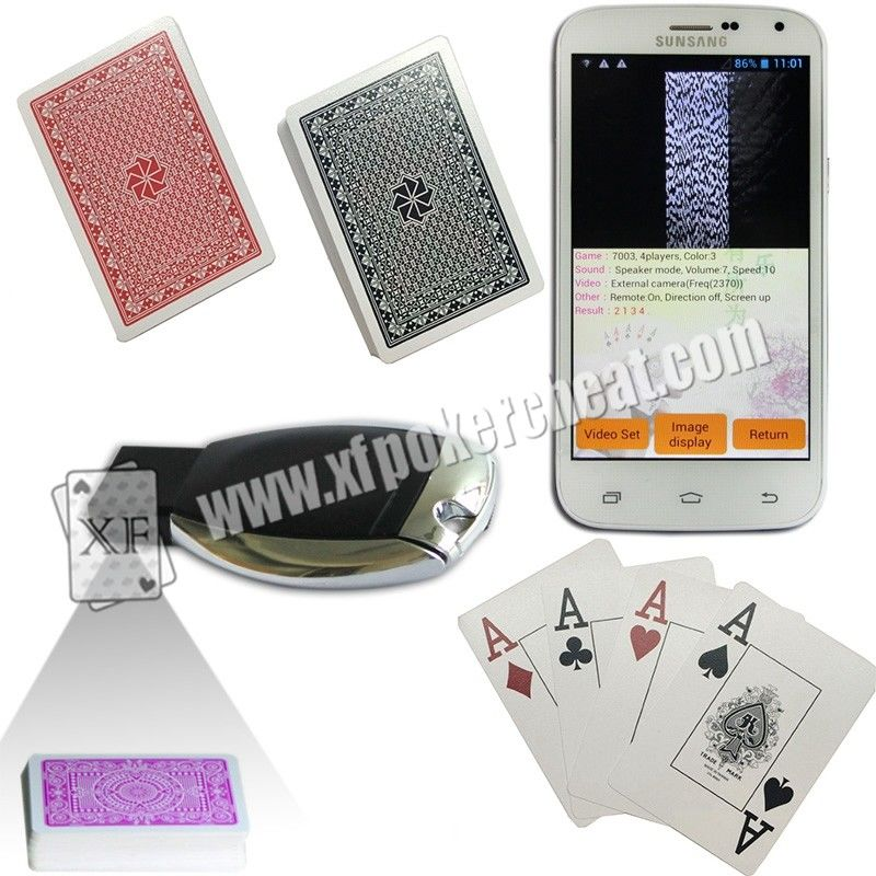 Royal Big Number Wide Size Side Barcode Marked Poker Cards For Poker Predictor
