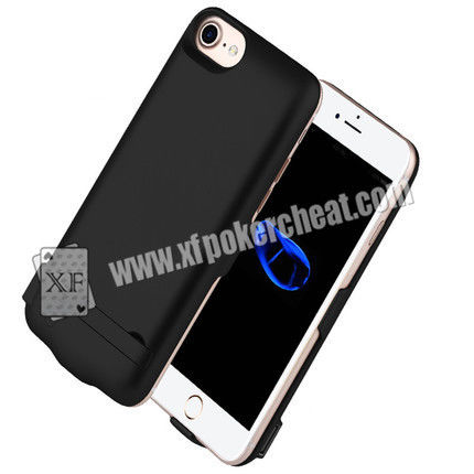 4.7 Inch iPhone 6 / 7 / 8 Power Case Poker Scanner With IR Camera Inside To Scan Marked Playing Cards