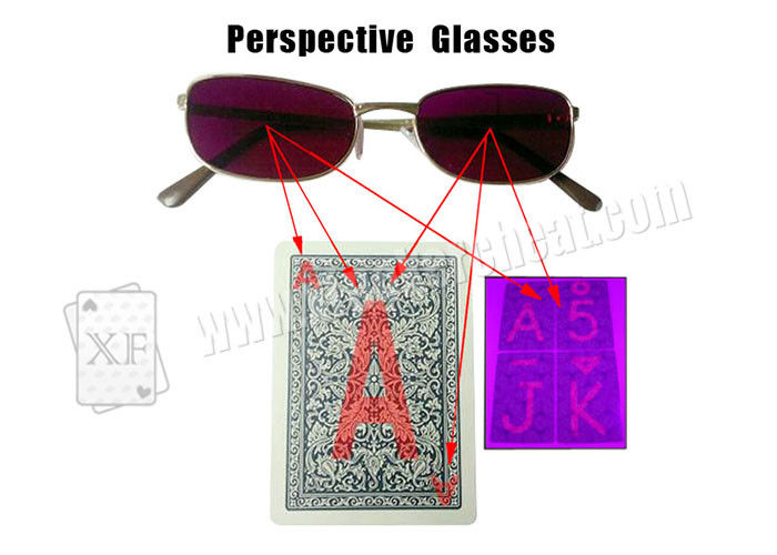 Gambling Purple Plastic Perspective Glasses For Invisible Marked Cards