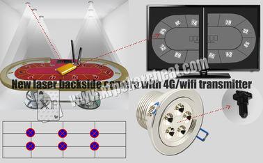 Analizzatore della carta da gioco della macchina fotografica del lato posteriore del laser delle luci bianche con il trasmettitore di 4g Wifi